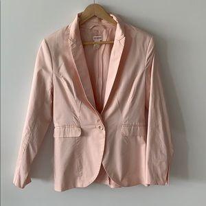 H&M blush cotton blazer